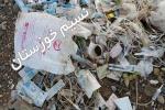 مسوولان جلوي اين فاجعه را بگيرند ؛ رها سازي زباله هاي عفوني خطرناك بيمارستان ها در كنار كارون