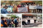 کشاورزان غیزانیه جلوي بانك كشاورزي خوزستان تجمع كردند